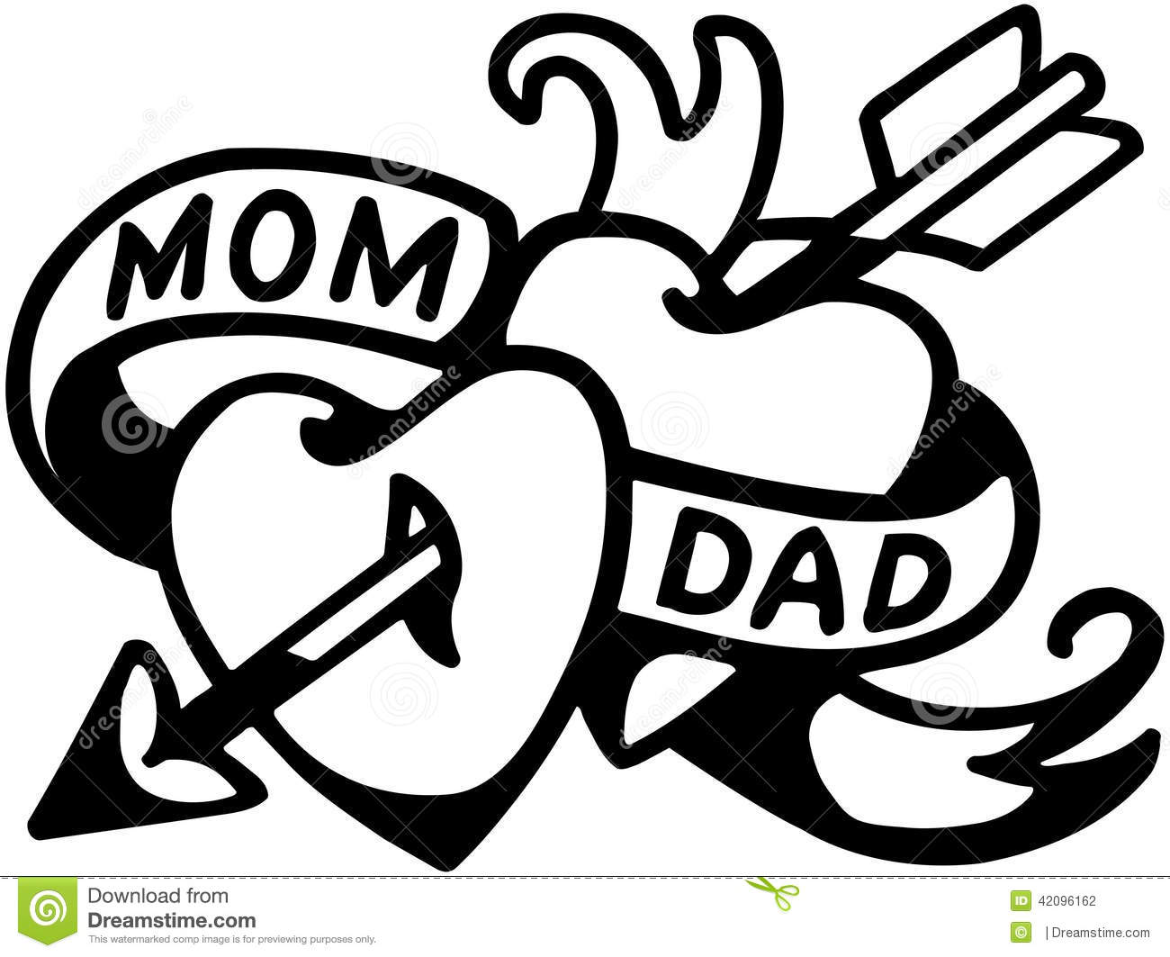 Mom and dad tattoo stock vector illustration of funny 42096162 mom and dad tattoo biocorpaavc Image collections