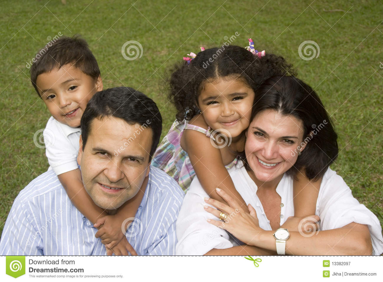 mom and dad walking with their children stock image image 13382097. Black Bedroom Furniture Sets. Home Design Ideas
