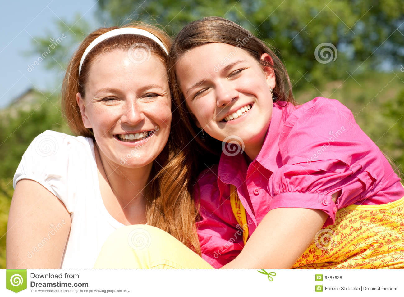 Your mom and daughter having fun
