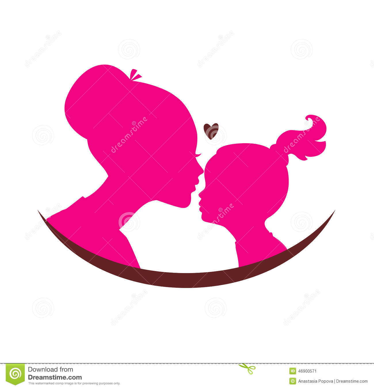 Mom And Daughter Love Stock Vector - Image: 46900571