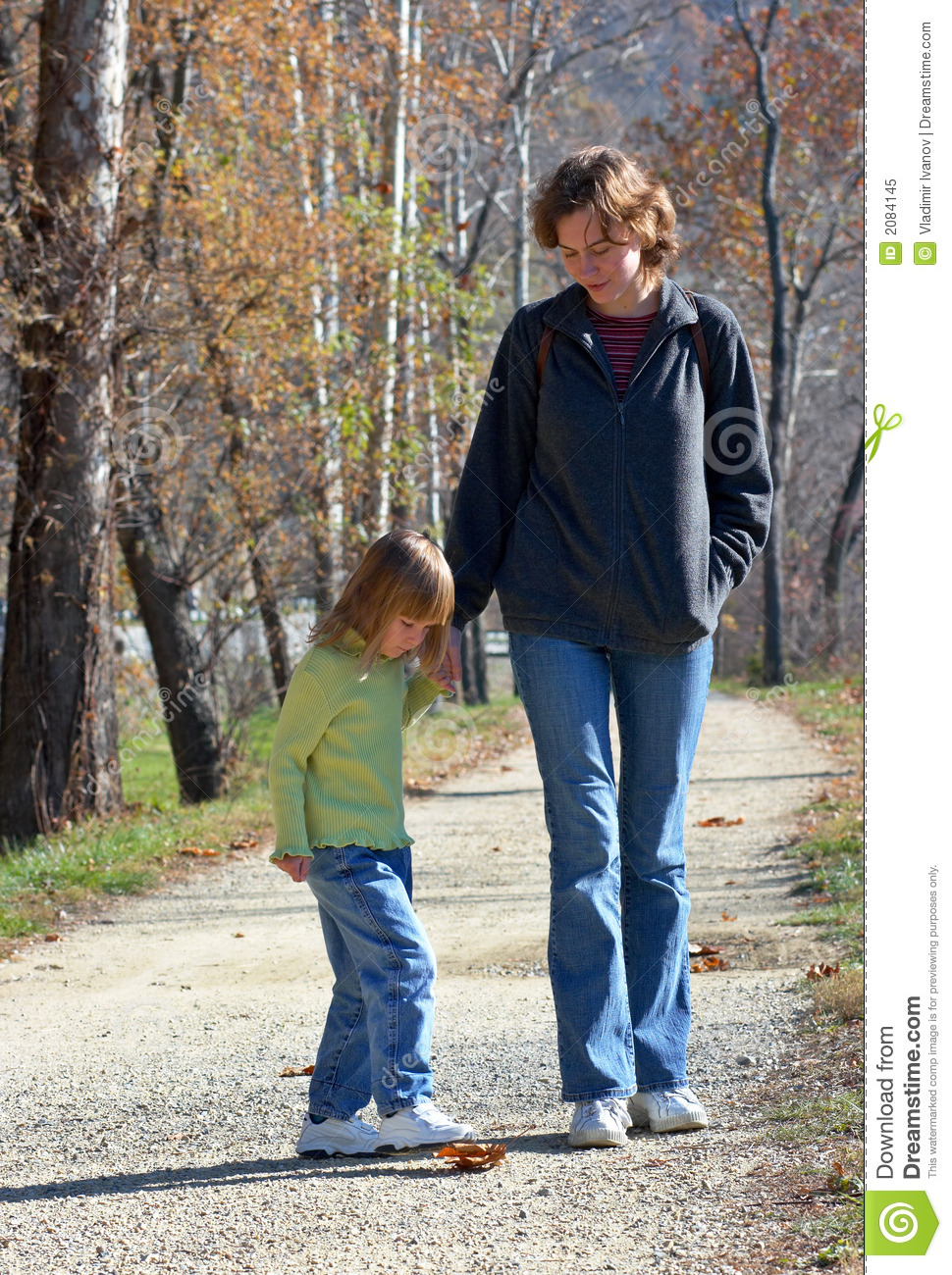 Mom with daughter in the park