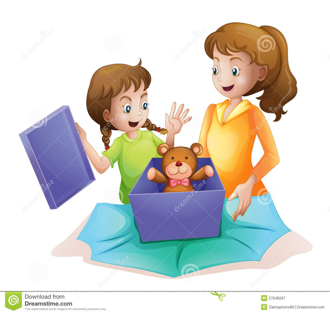Mom And Kid Stock Illustration Of Open