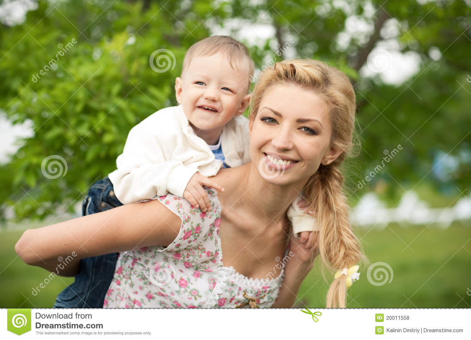 Blonde mom fucks son