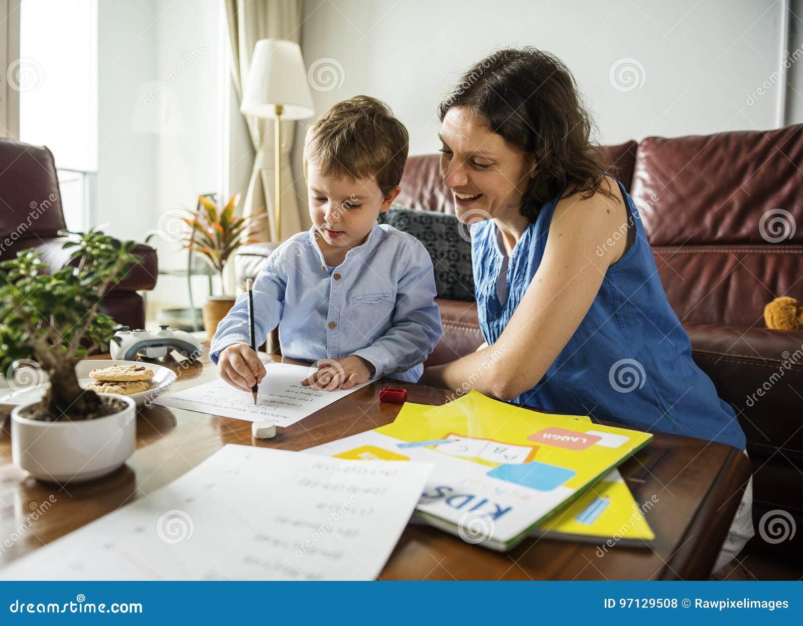 Son teaching mom a lesson