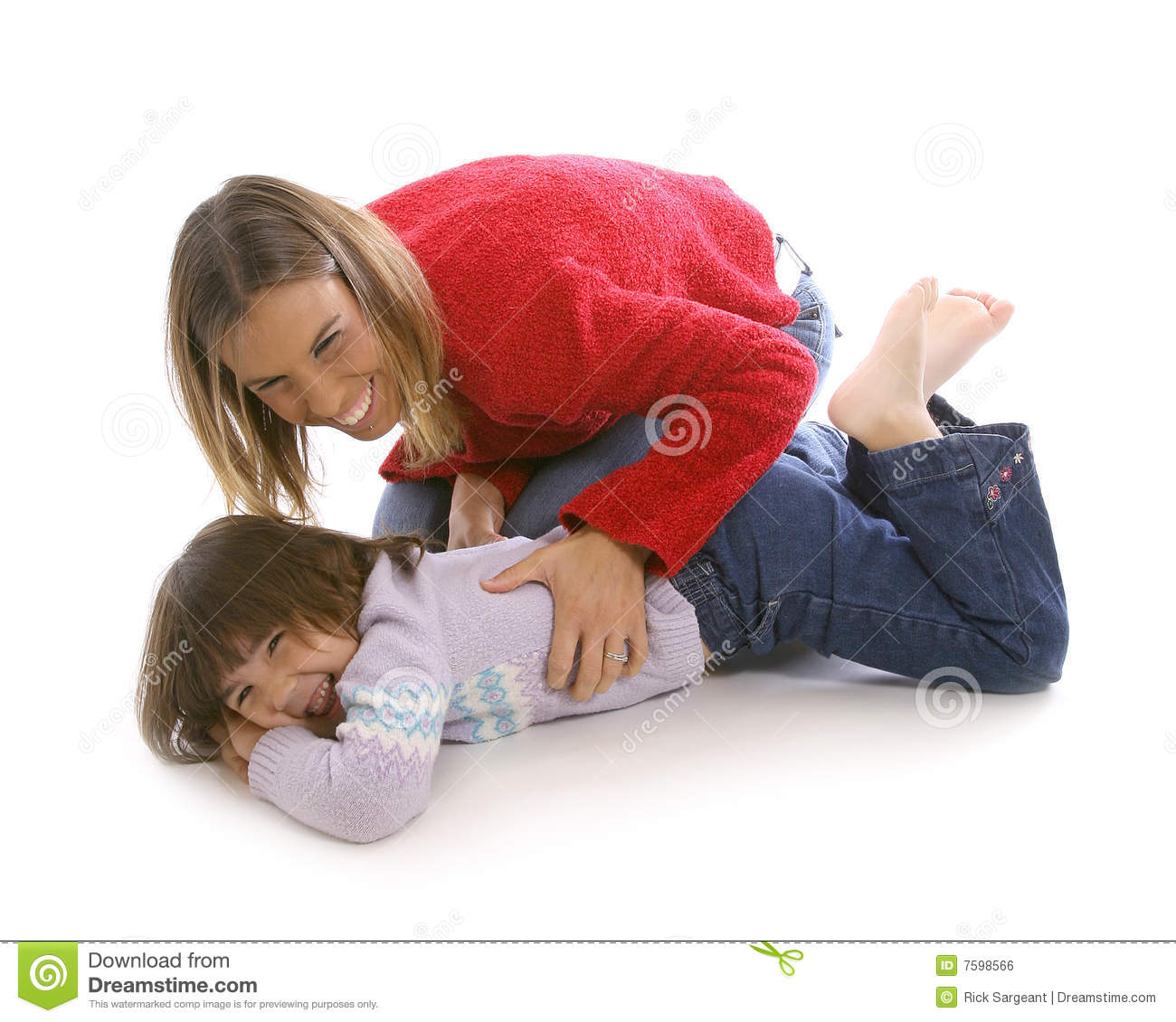 Mom Tickle Royalty Free Stock Image - Image: 7598566