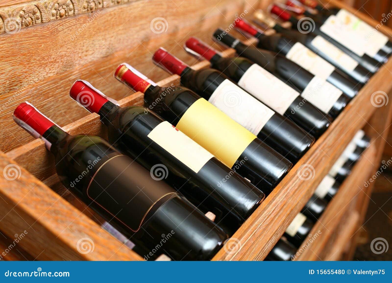 Momentopname van de wijnkelder.