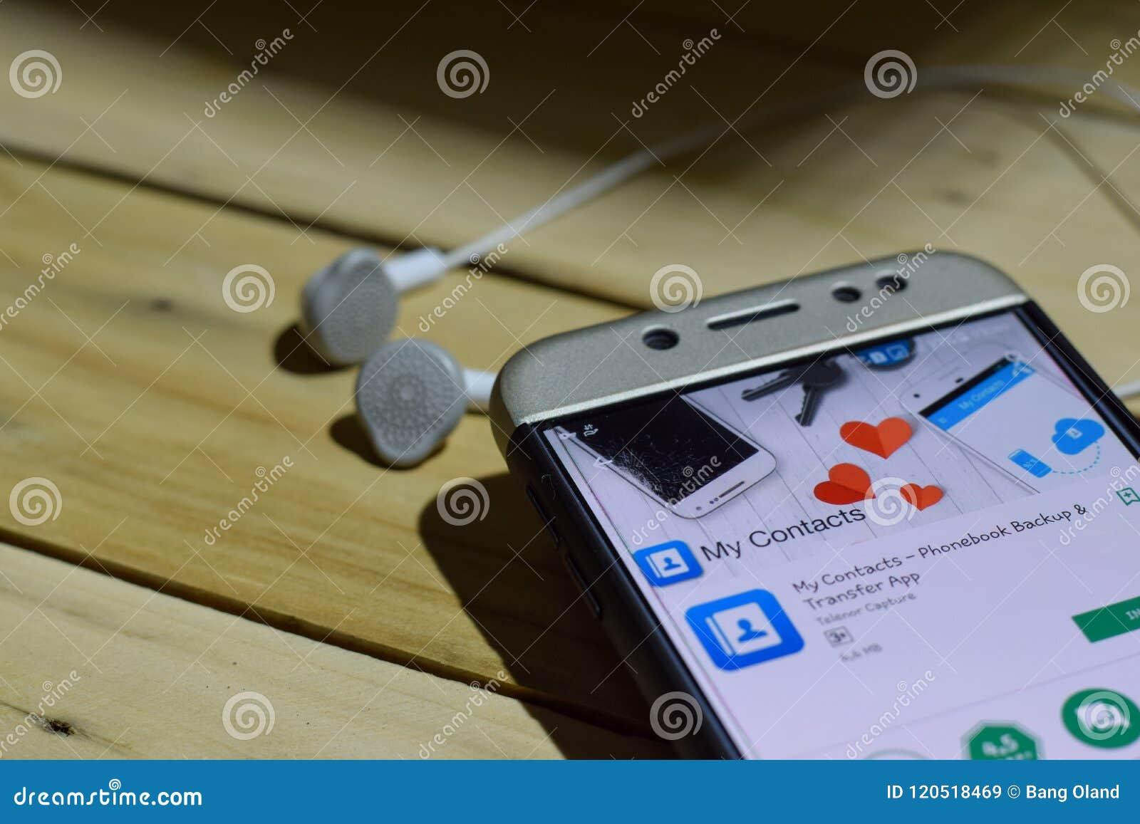 Mon application de réalisateur de contacts sur l écran de Smartphone