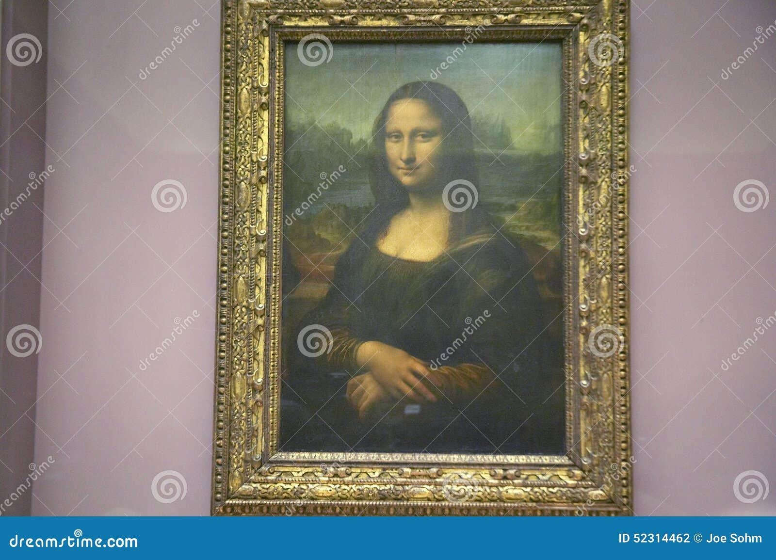 Mona Lisa durch Leonardo Da Vince am Louvre-Museum, Paris, Frankreich