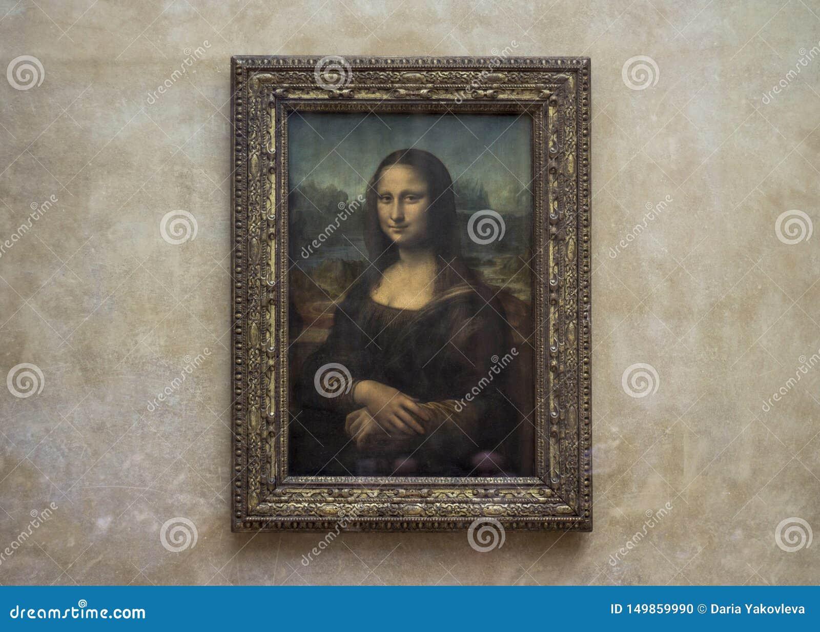 Mona Lisa en el museo del Louvre sin los turistas