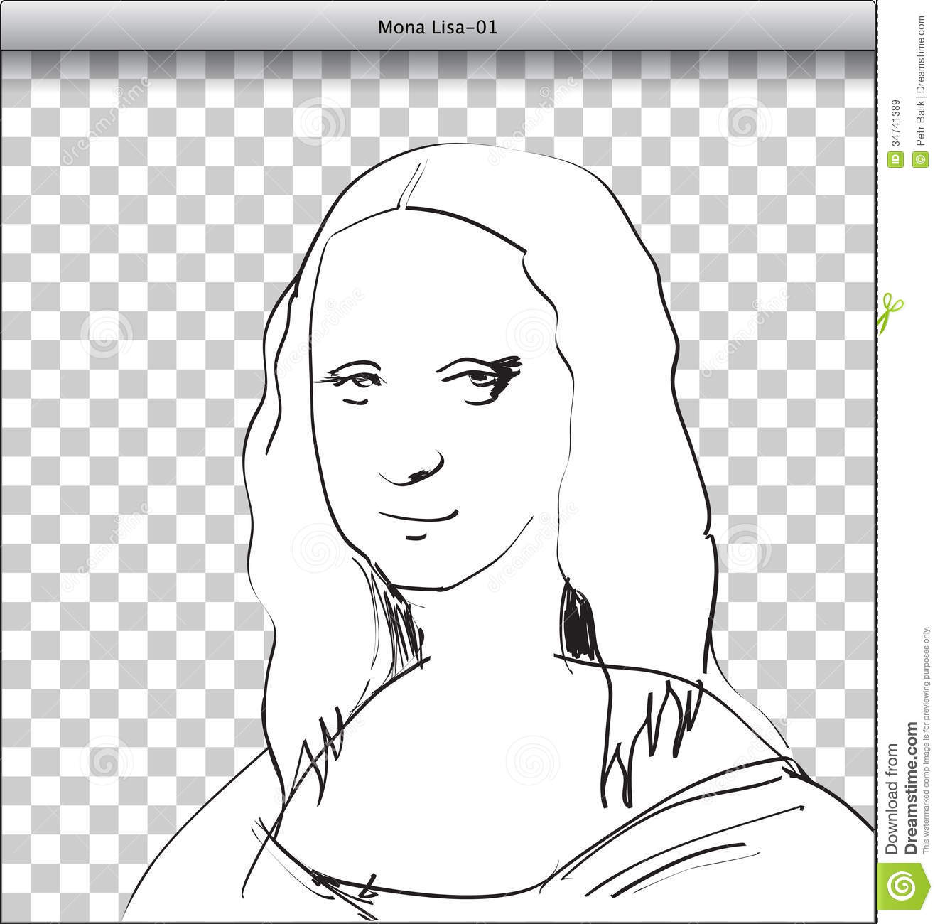 Mona Lisa Sketch In DTP Royalty Free Stock Images - Image: 34741389