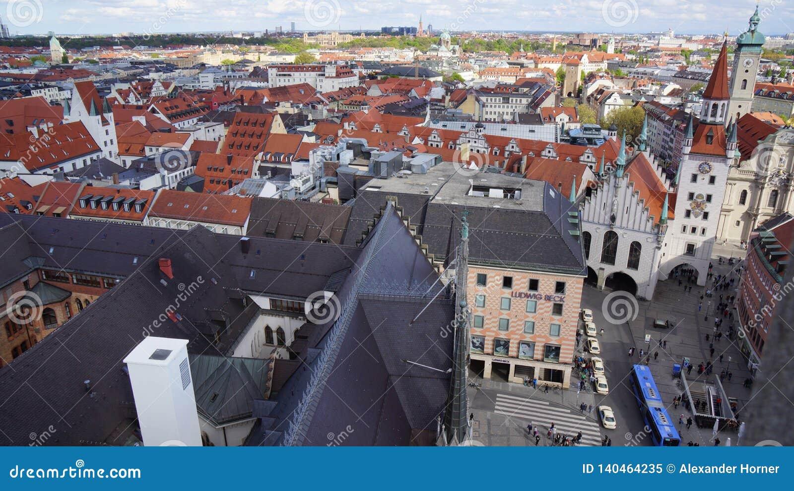 Monachium Marienplatz Bavaria urząd miasta Nowy widok