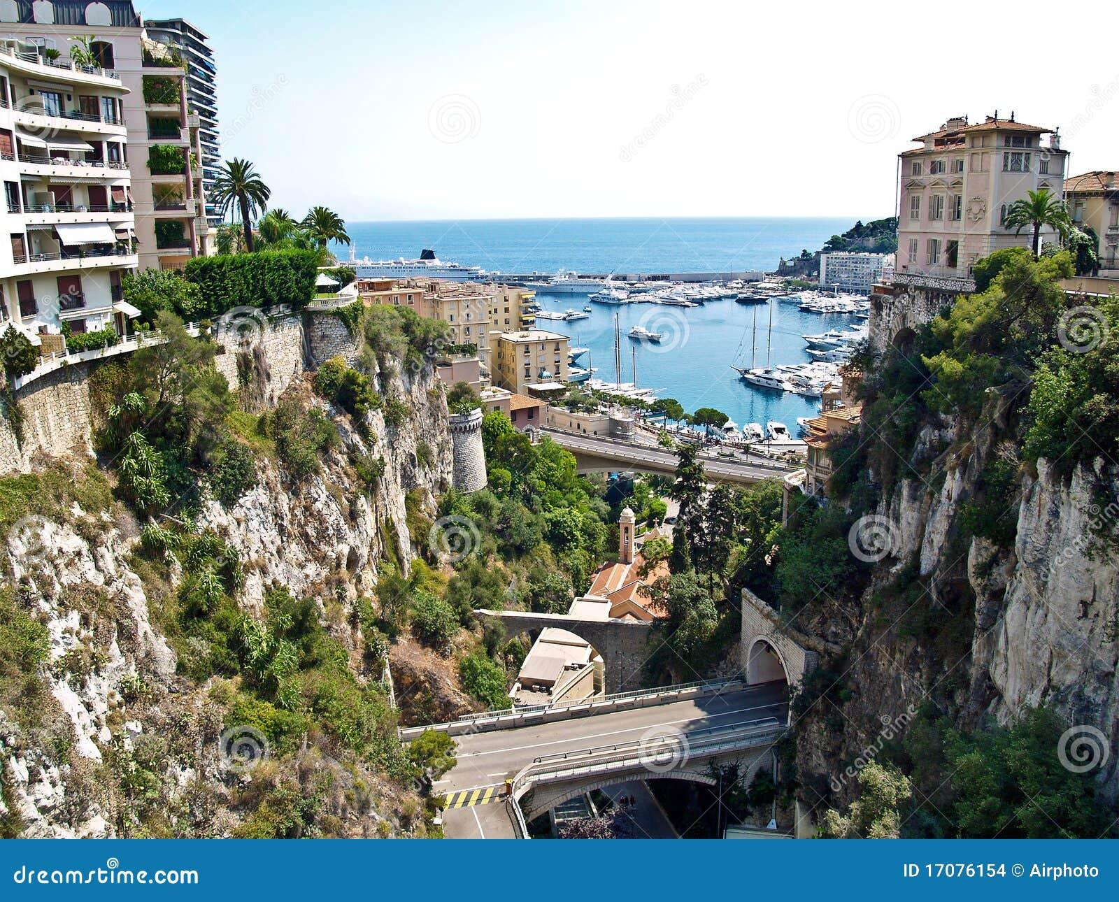 Monaco, Ansicht, zum von Hercule an den Port anzuschließen