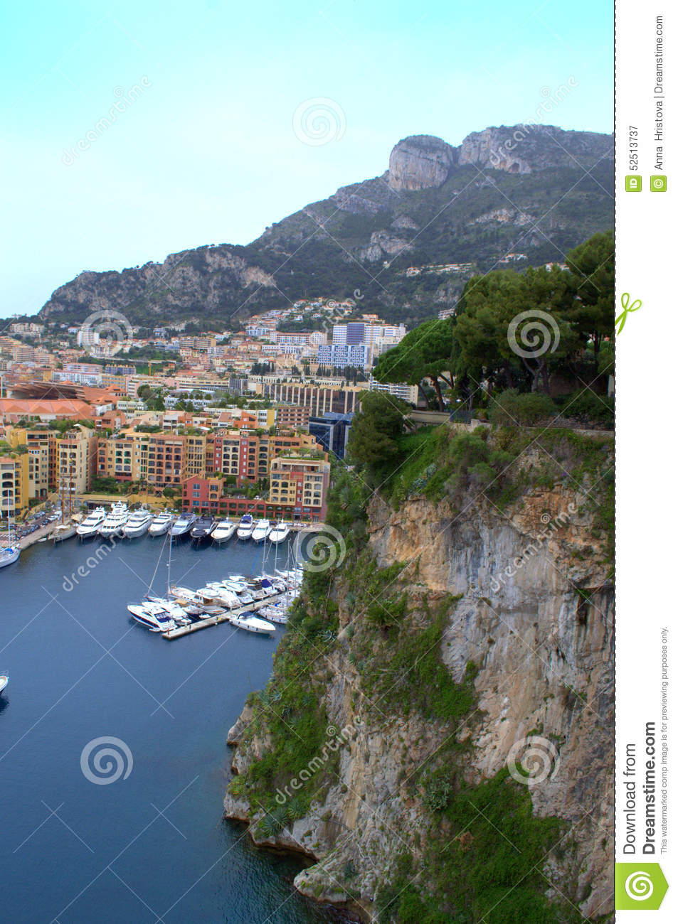 Stock Photo Monaco Bay View Monte Carlo Marina Residential Properties Picturesque Levee Image52513737 on oceanographic museum monte carlo