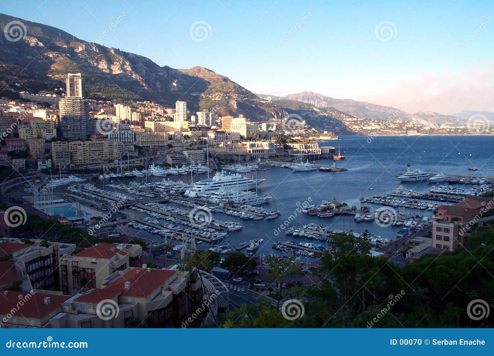 Monaco docks from above