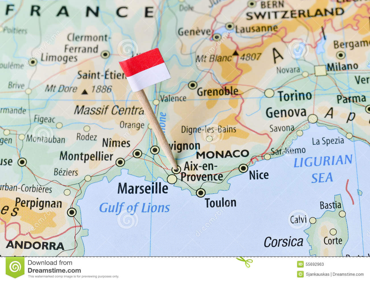 Monaco On Map Of France.Map Monaco Stock Images Download 193 Royalty Free Photos