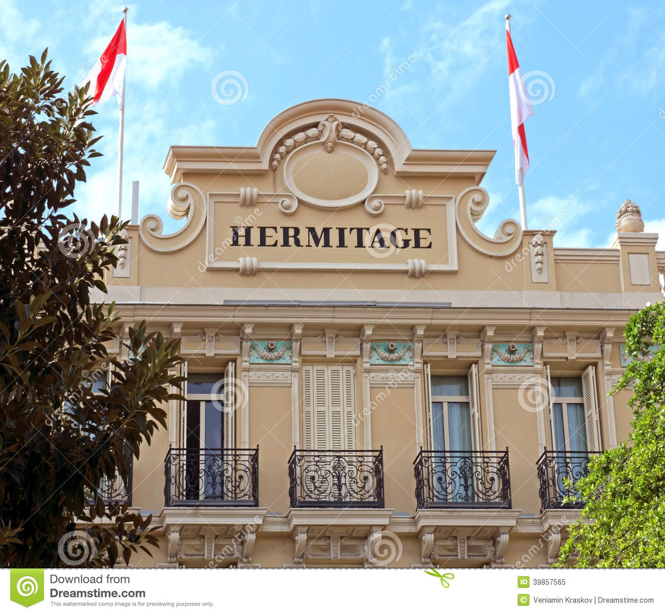 Hotel Hermitage From Square Beaumarchais Editorial Image