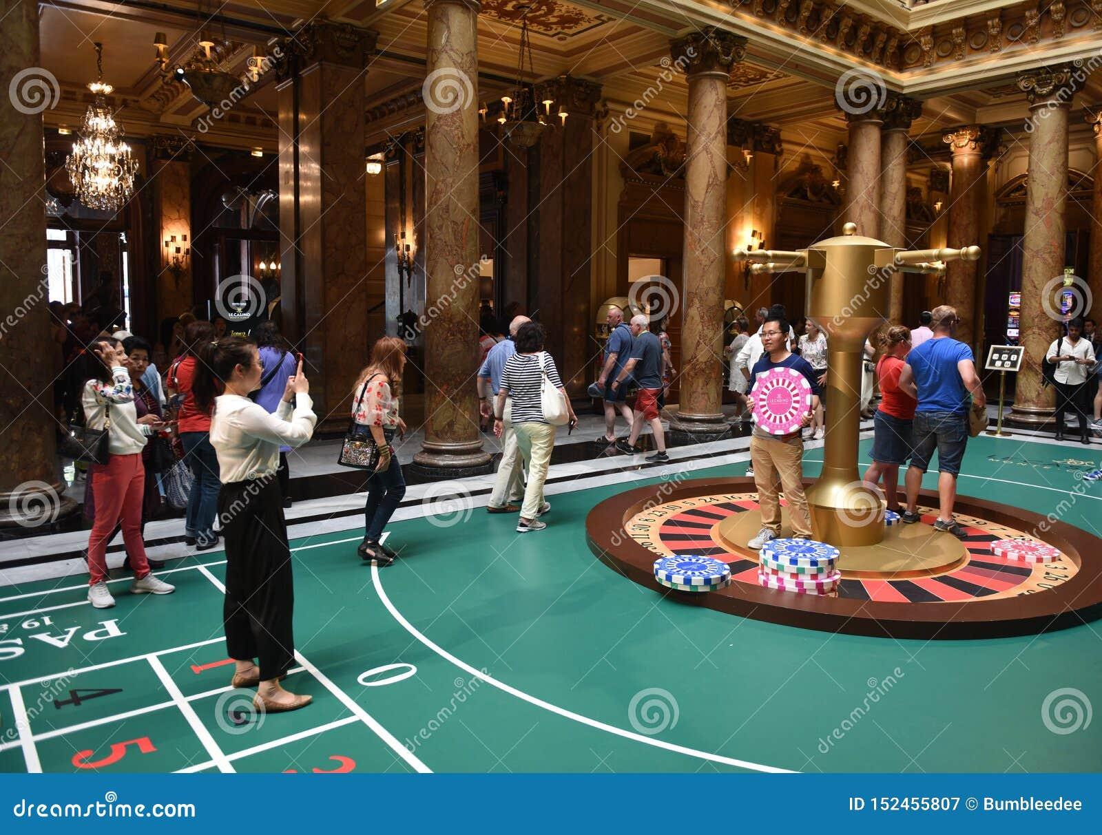 Monte Carlo Casino >> Monaco June 23 2019 Tourists Inside The Monte Carlo