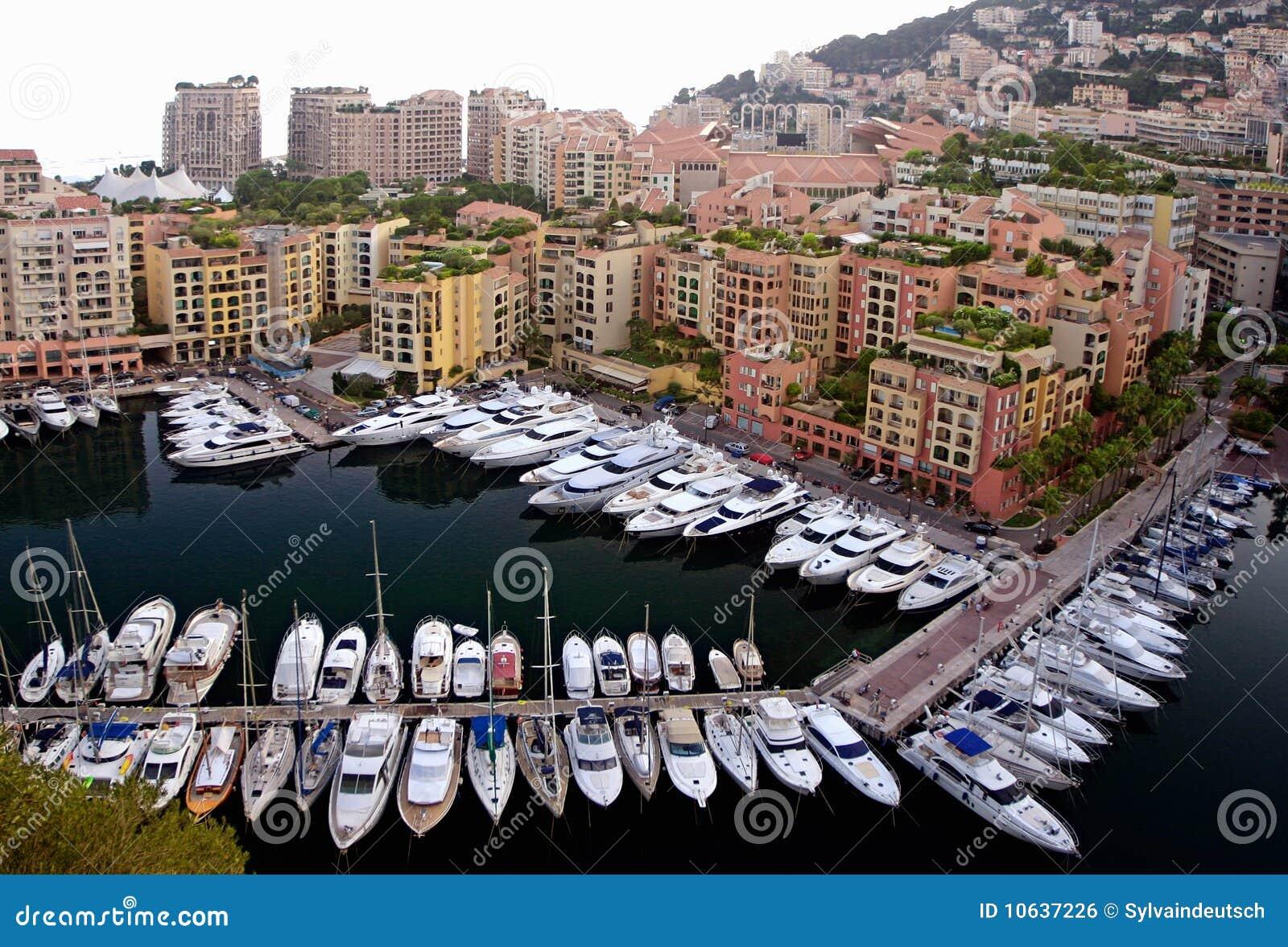 Monaco Marina Royalty Free Stock Image - Image: 10637226