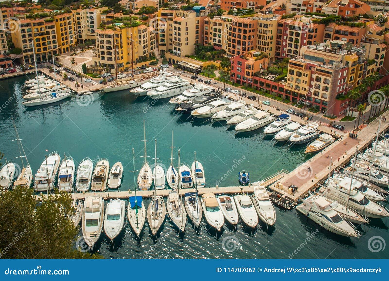 Monaco Monte, Carlo Panoramiczny miasto widok, -