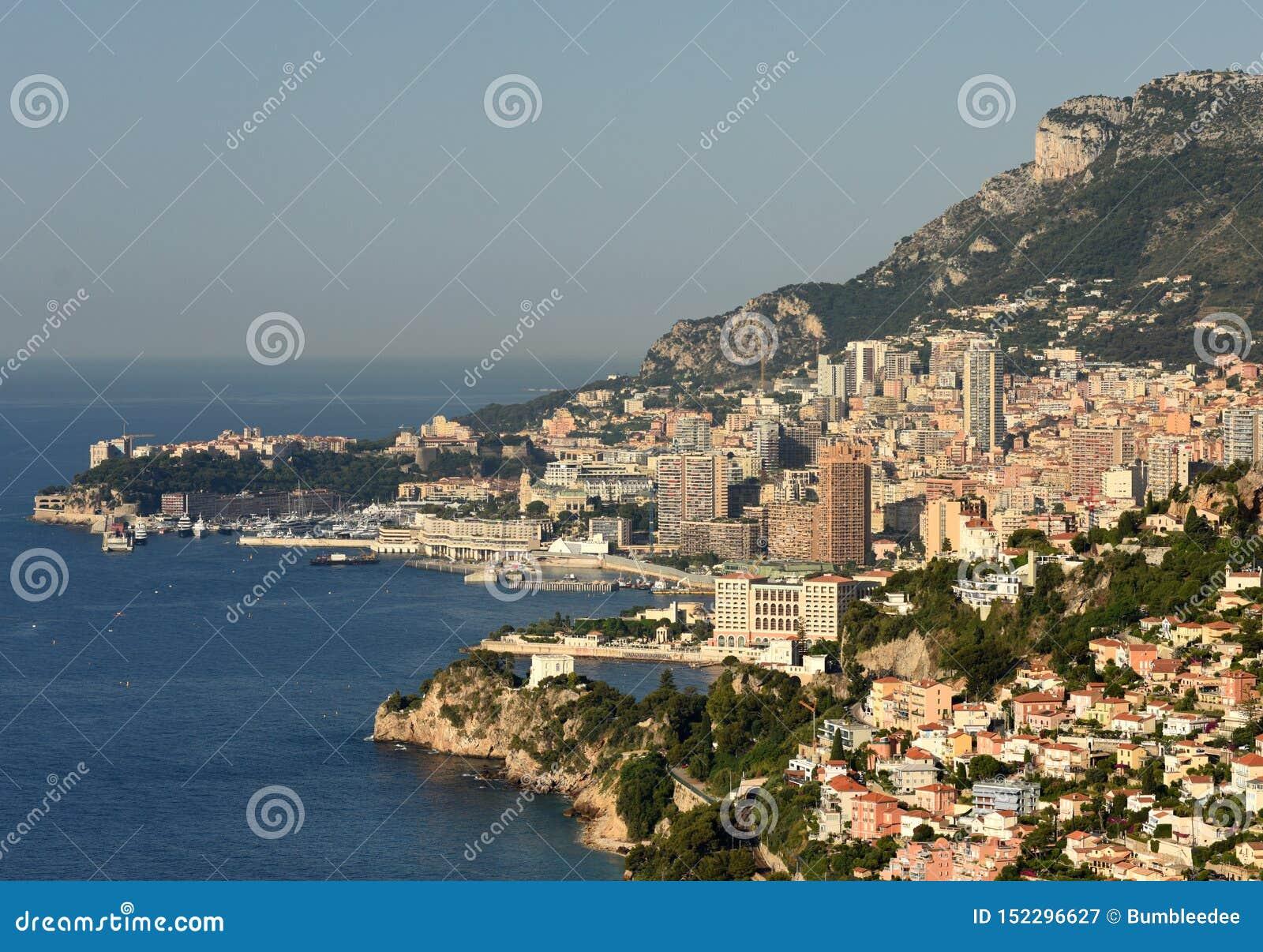 Monaco och Beausoleil, Cote d Azur av franska Riviera