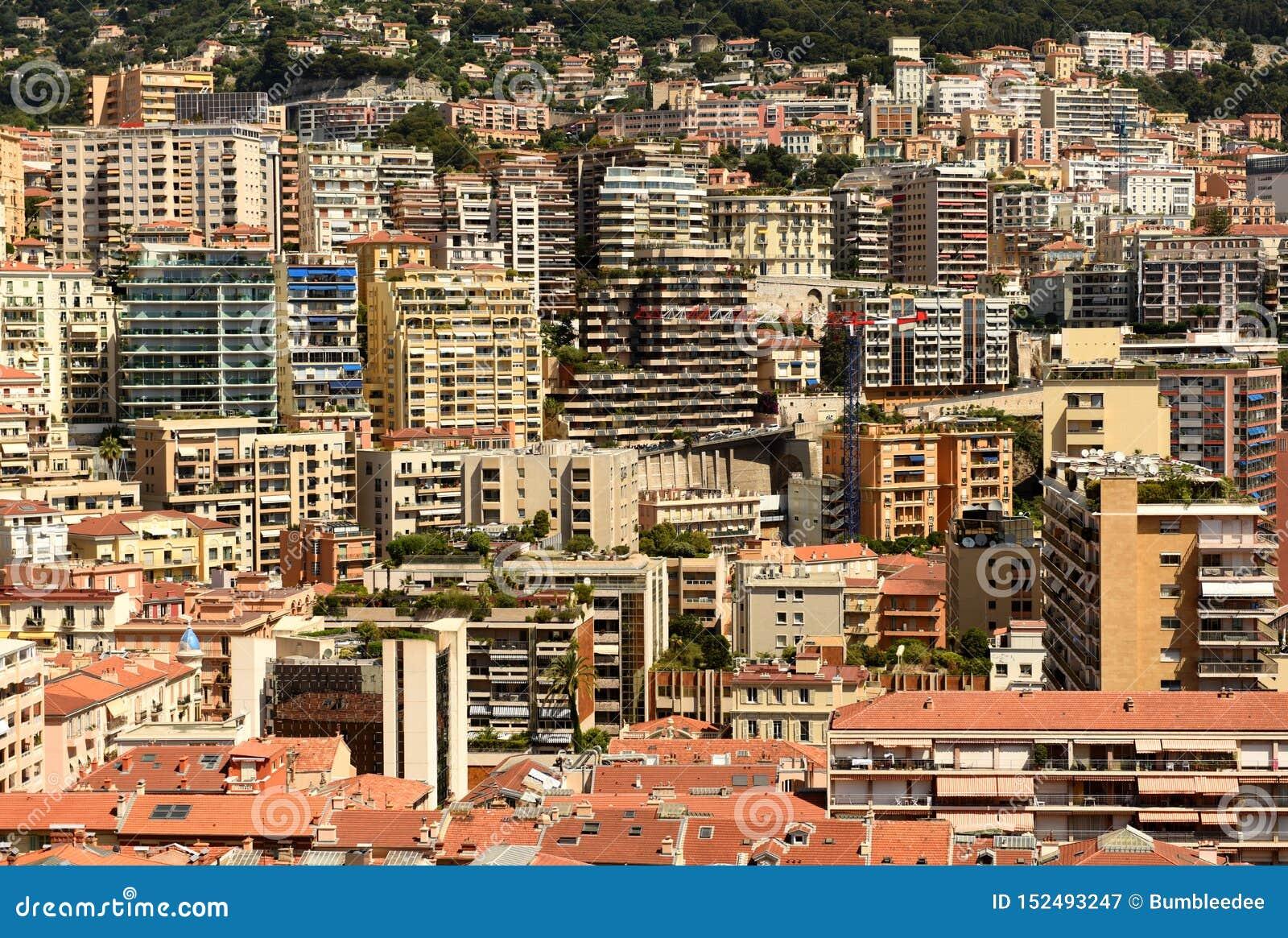 Monaco och Beausoleil fastighet, Cote d Azur av franska Riviera