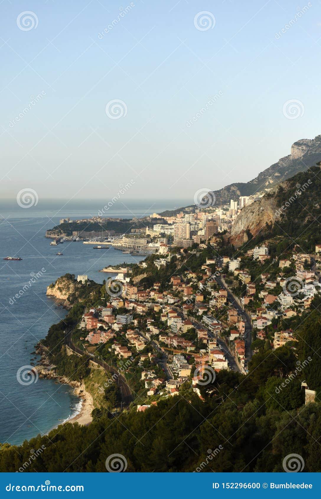 Monaco und Roquebrune-Kappe-Martin, Cote d Azur von französischem Riviera