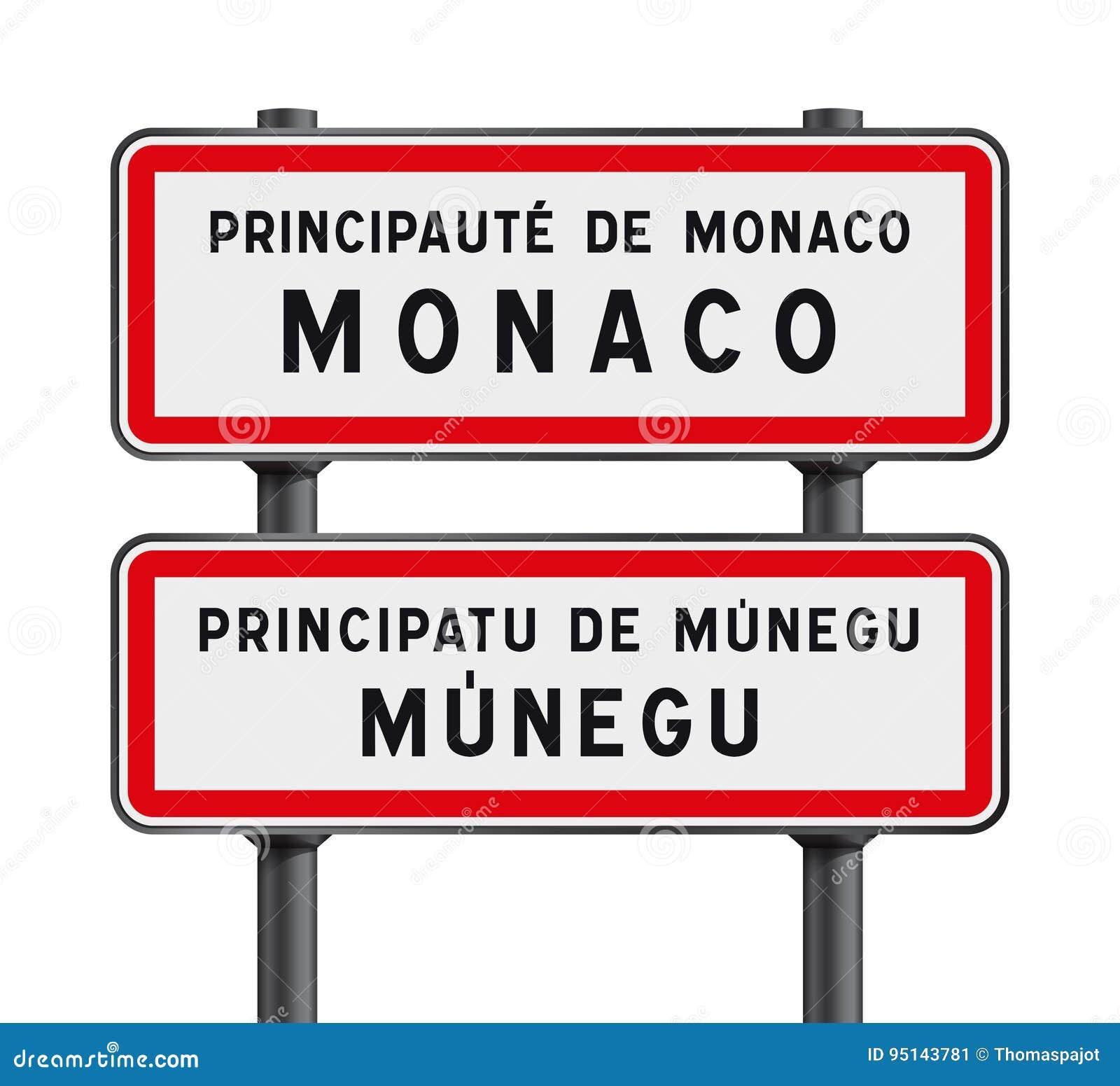 Monaco vägmärkeingång