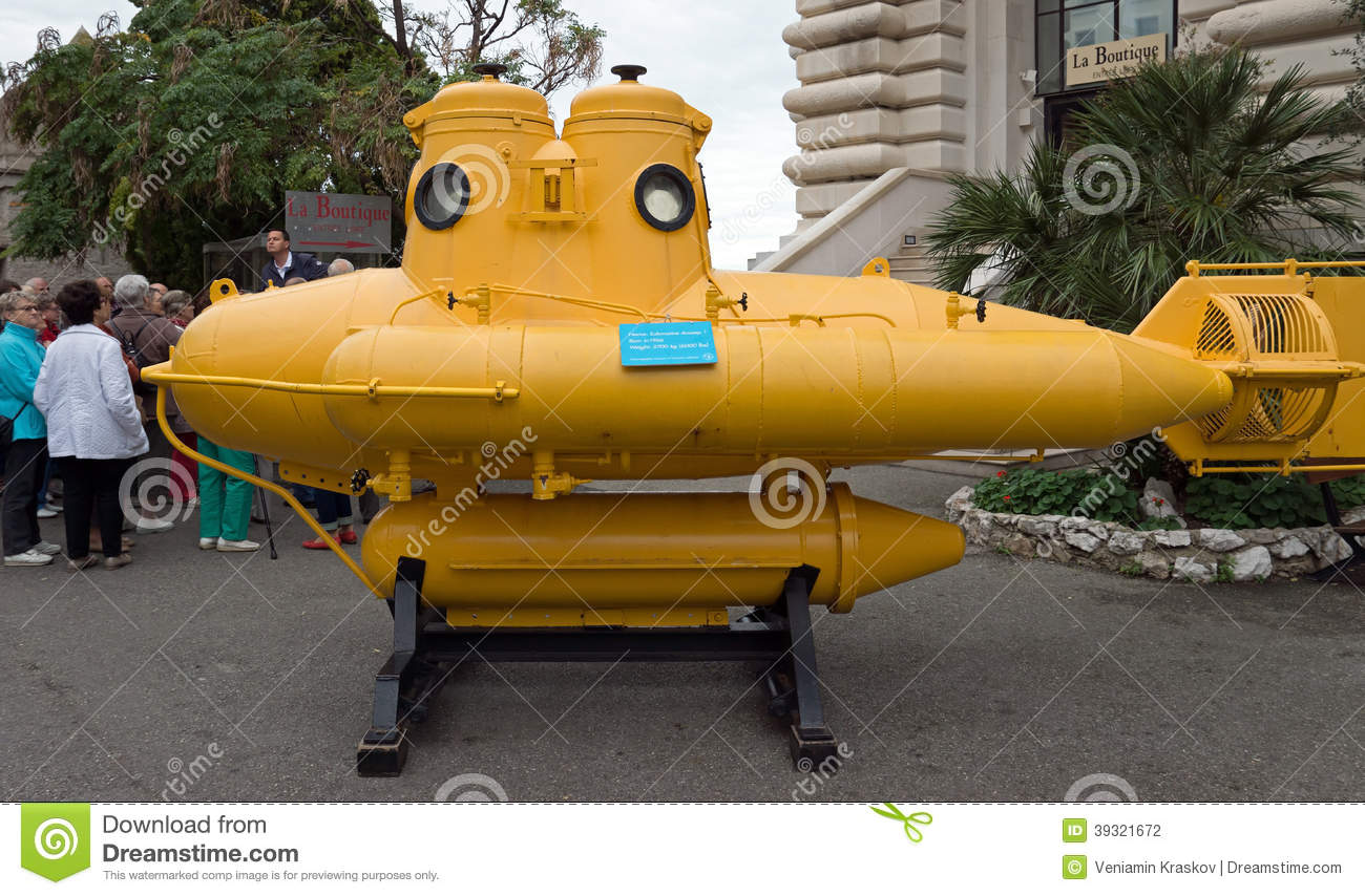 Stock Photography Monaco Yellow Submarine Monte Carlo April Jacques Yves Cousteau Oceanographic Museum April Image39321672 on oceanographic museum monte carlo