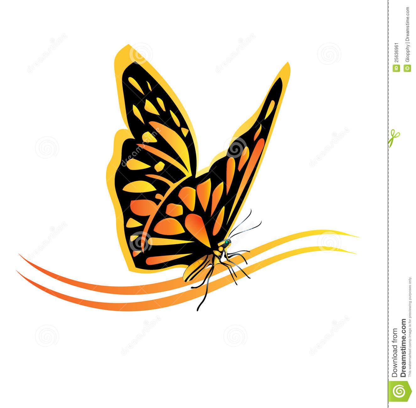 Monarch Butterfly Logo Stock Image Image 25636961