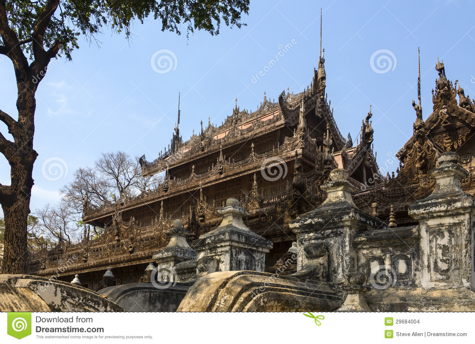 Monastère de Shwe Nandew - Amarapura- Myanmar