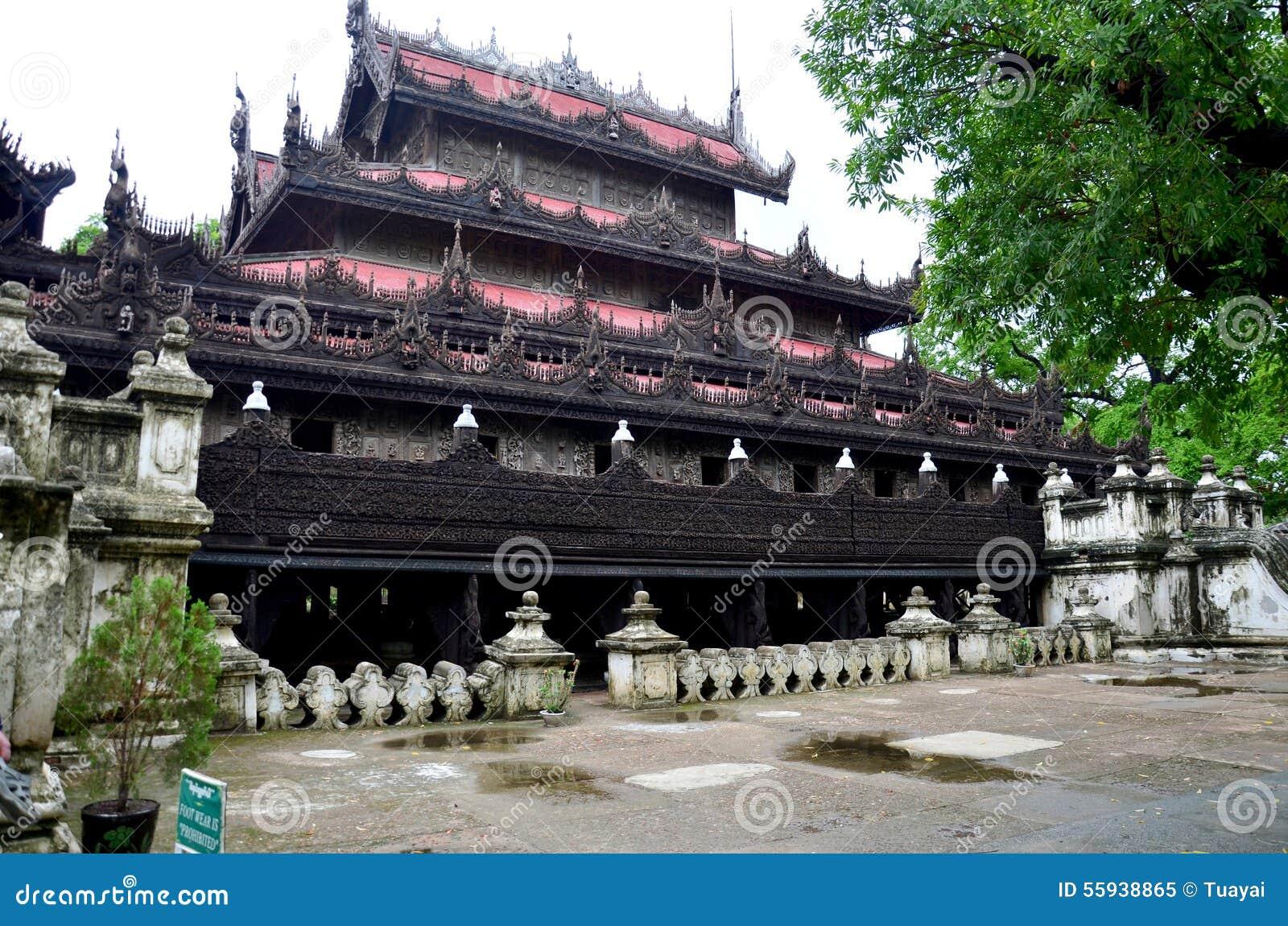 Monastère de Shwenandaw à Mandalay, Myanmar