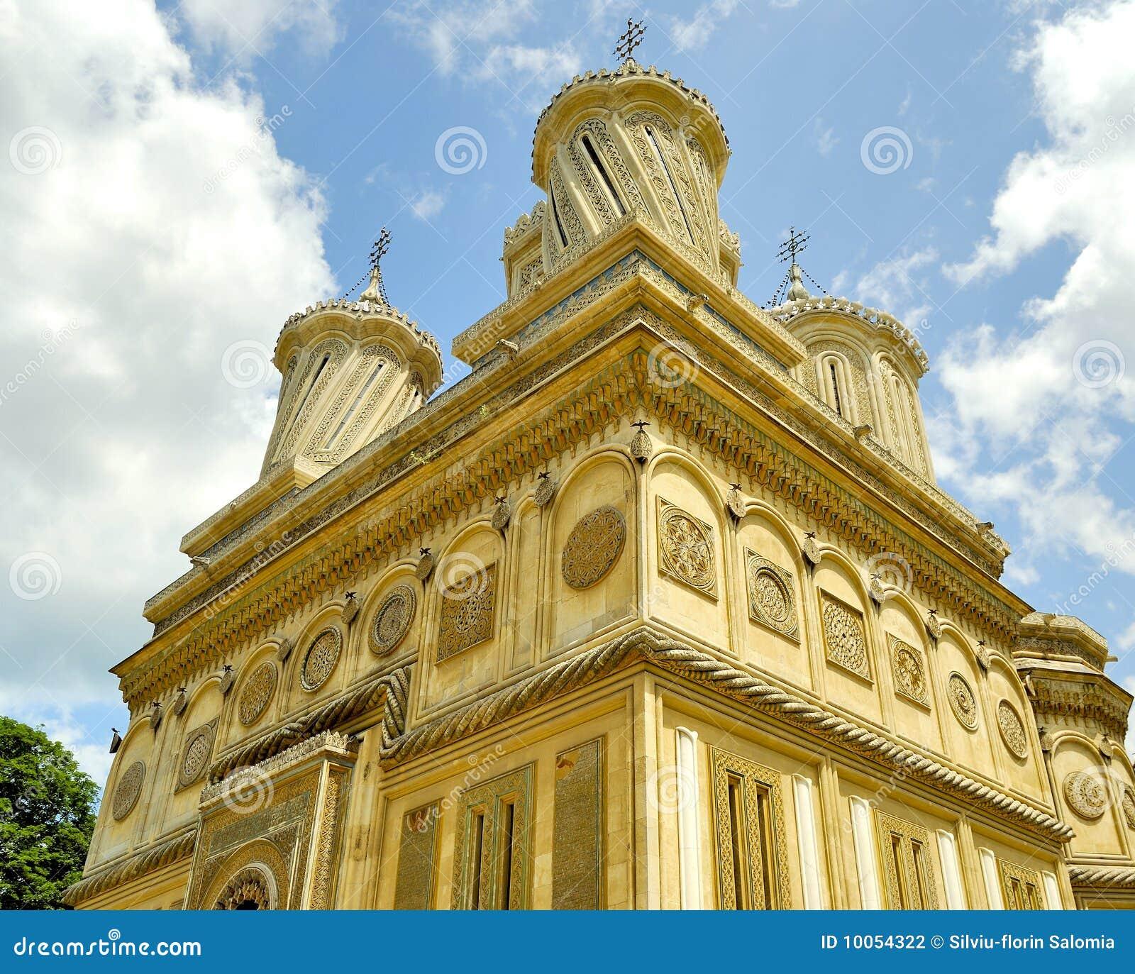 Monastério bonito em Arges, Romania