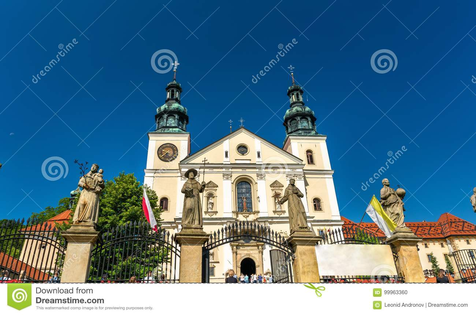 Monastério de Kalwaria Zebrzydowska, um local do patrimônio mundial do UNESCO no Polônia