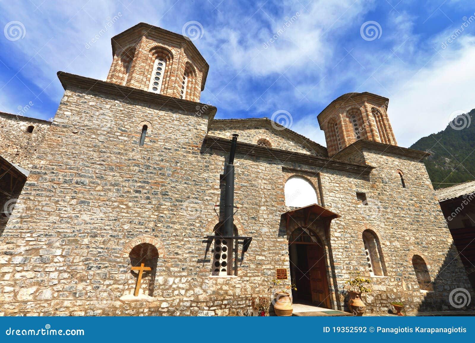 Monastério de Saint Dionysios em Greece