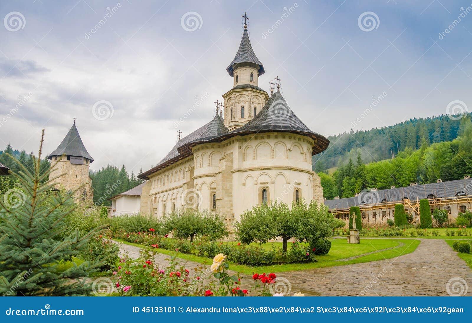 Monastério ortodoxo de Putna na região de Moldávia de Romênia