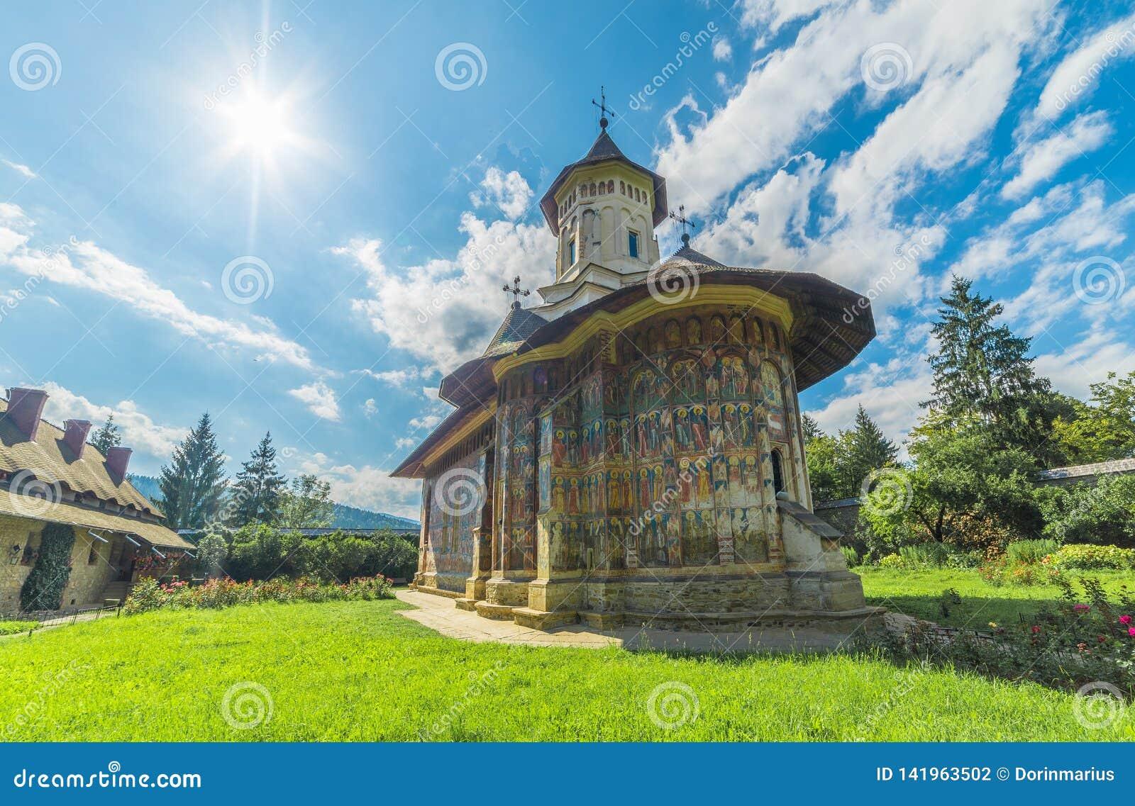 Monastério pintado ortodoxo da igreja de Moldovita