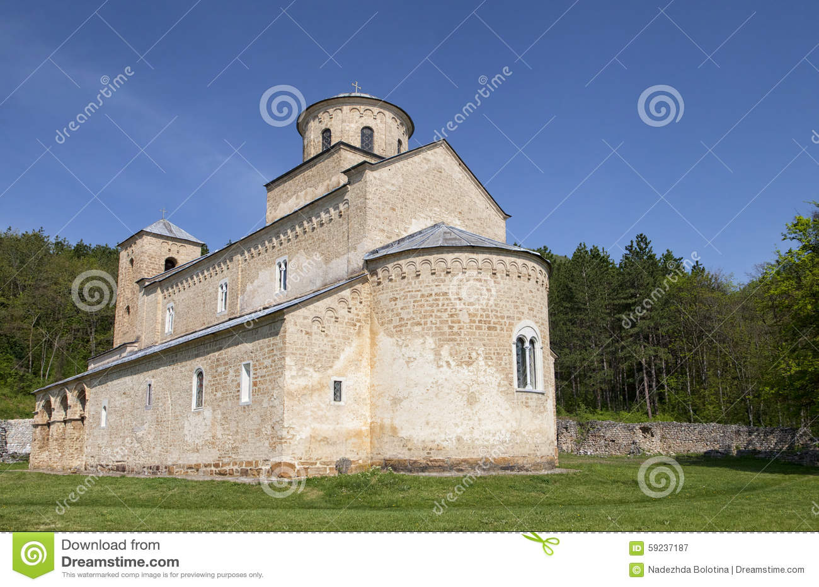 Download Monasterio Sopocani imagen de archivo. Imagen de piedra - 59237187