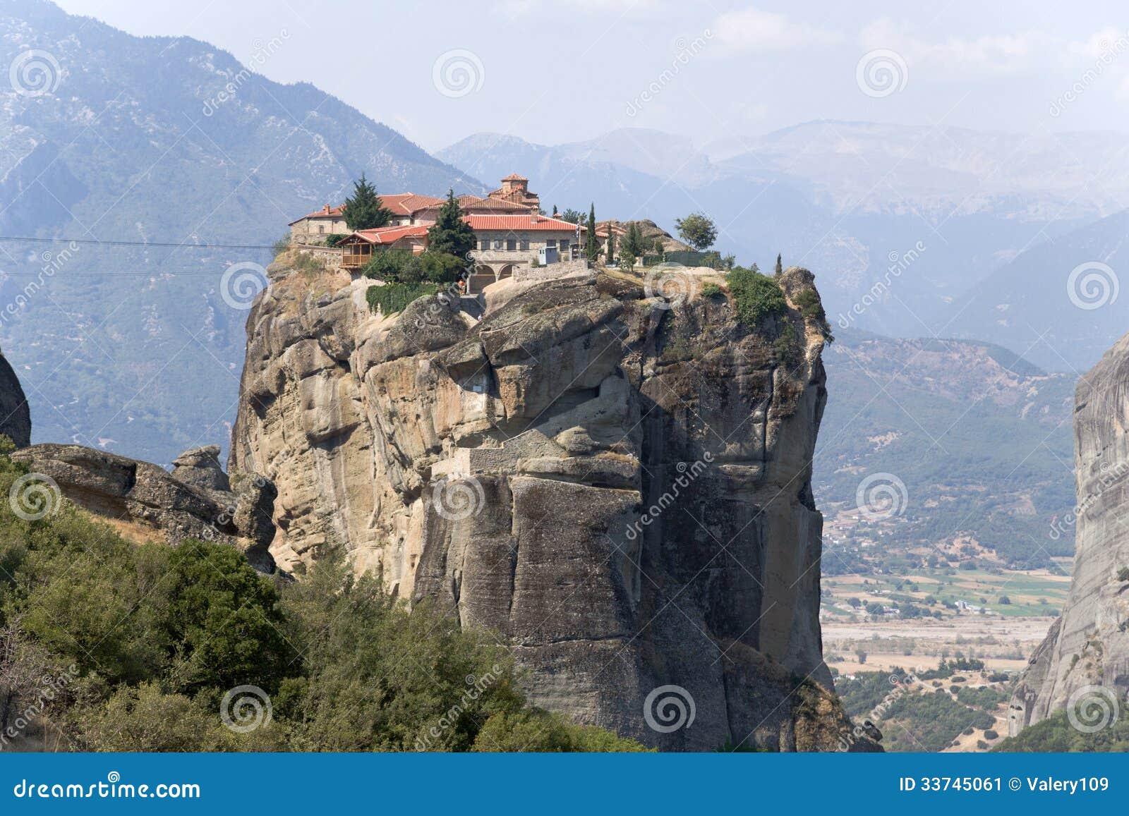 Monastery Of The Holy Trinity, Meteora Stock Image - Image ...