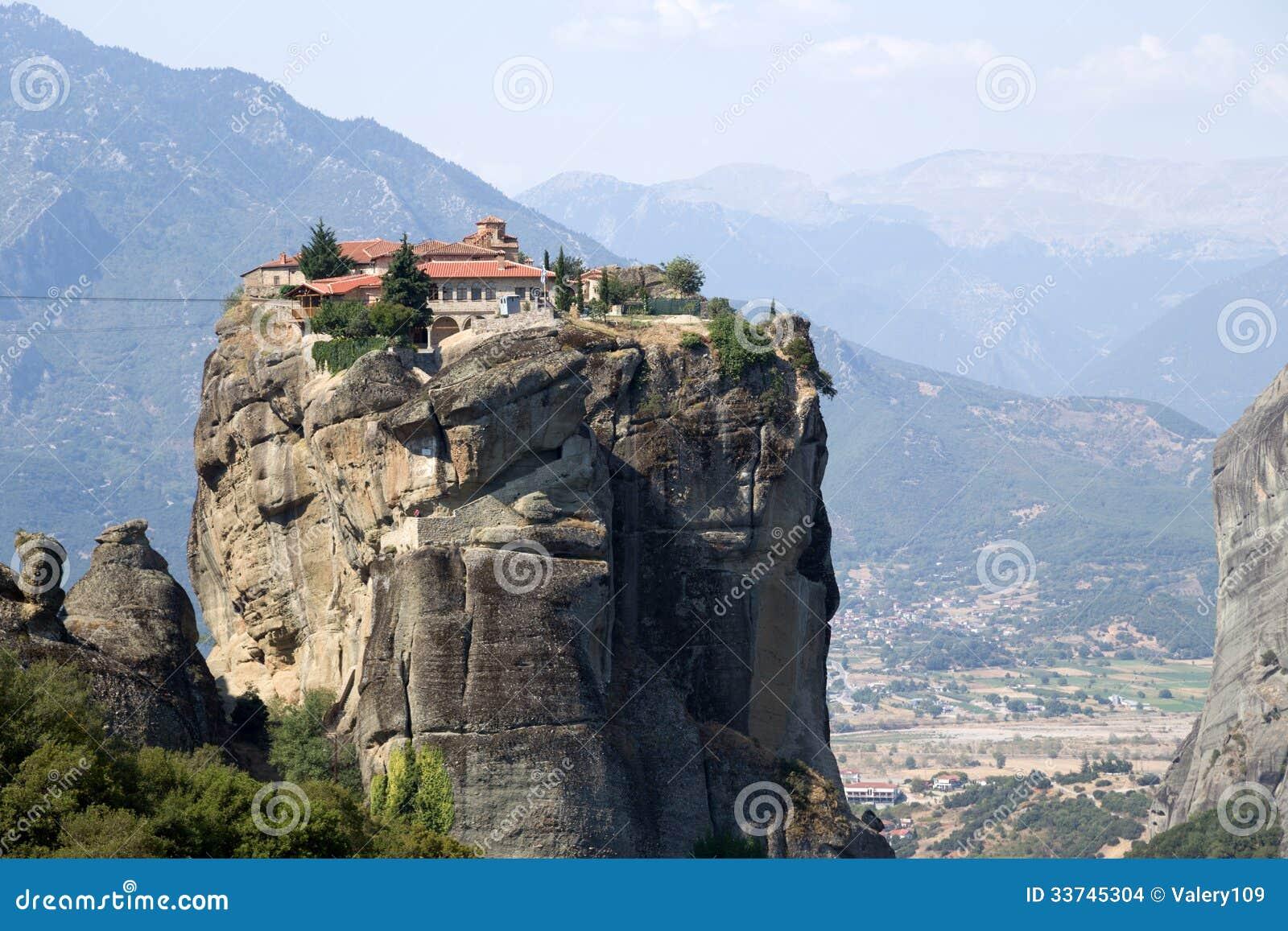 Monastery Of The Holy Trinity, Meteora Stock Photo - Image of rock