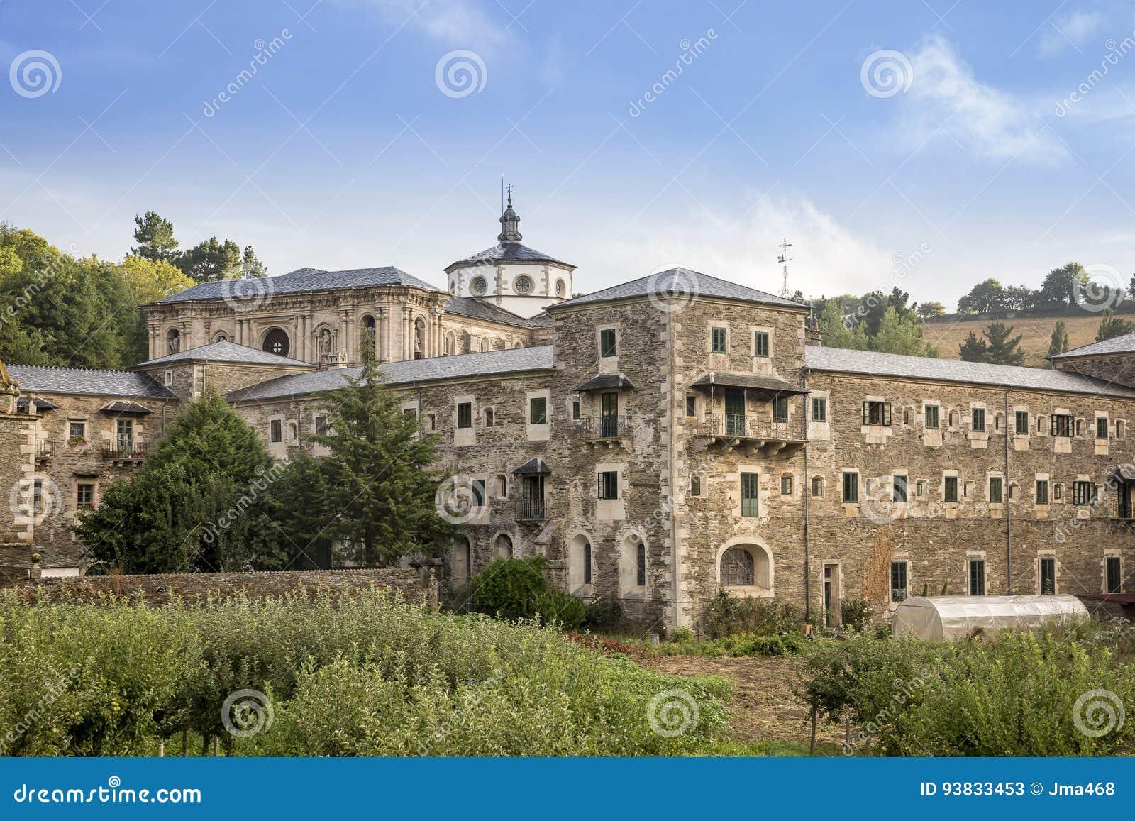 Monastery Of St Julian Of Samos Province Of Lugo Galicia Spain Stock Image Image Of Landscape Church 93833453