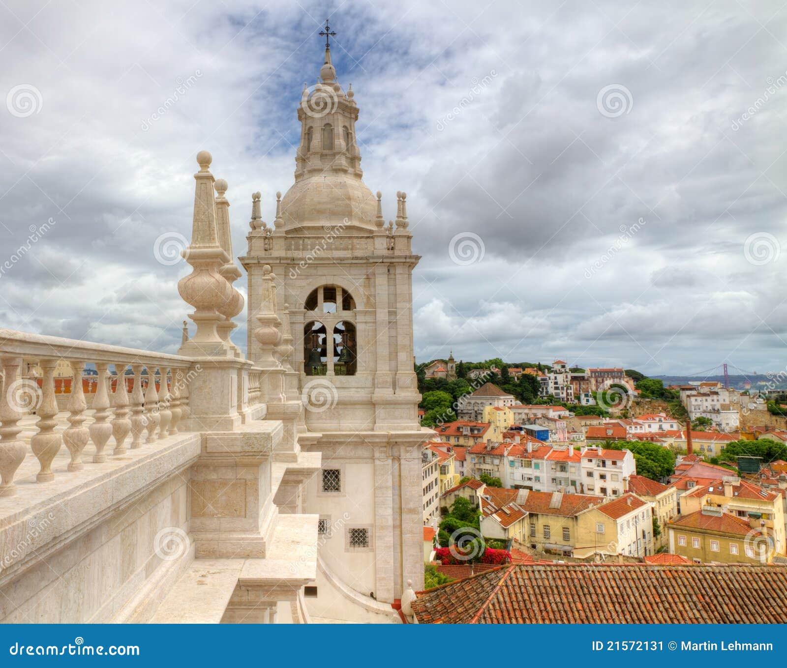 Monastery St Vincent Outside The Walls Lisboa Stock Image
