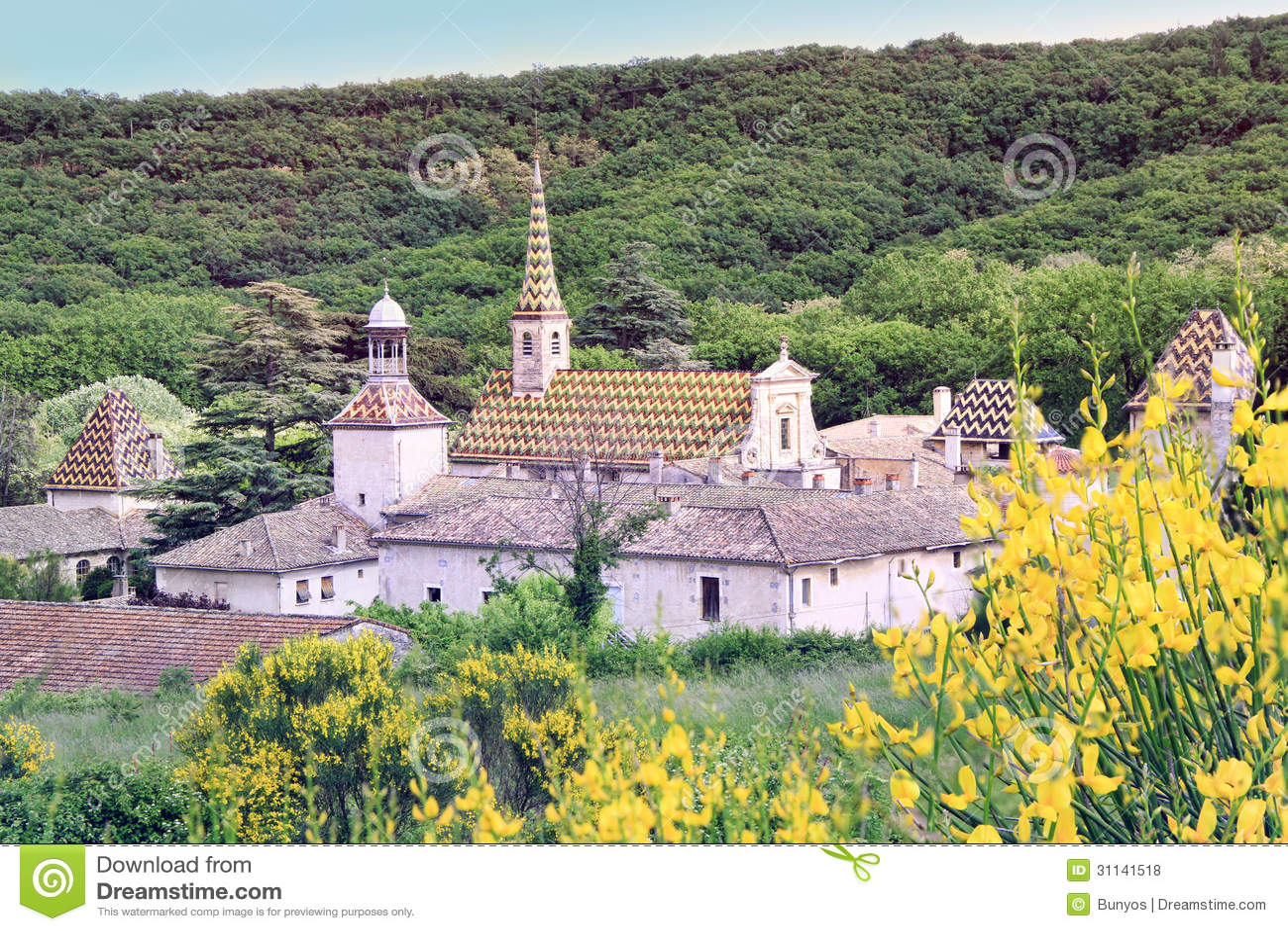 Monastery of Valbonne in Gard Provencal, France