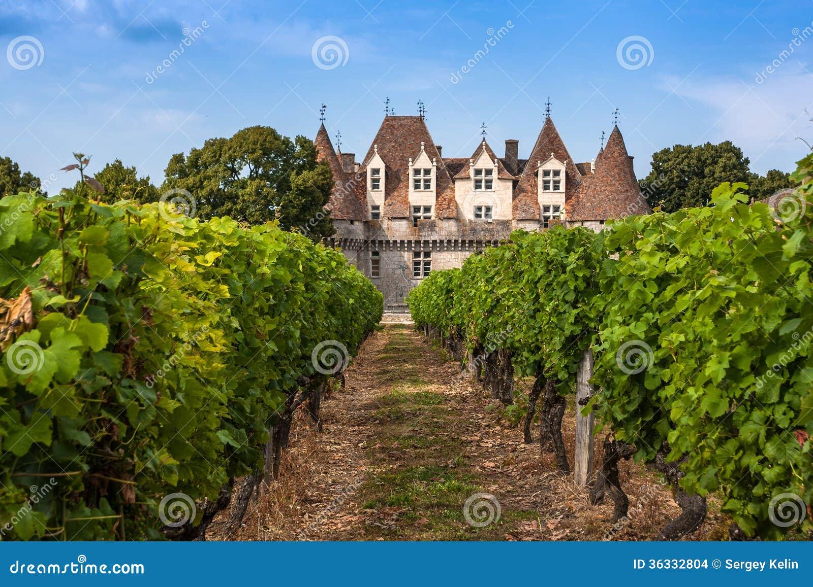 Monbazillac Castle με τον αμπελώνα, Aquitaine, Γαλλία