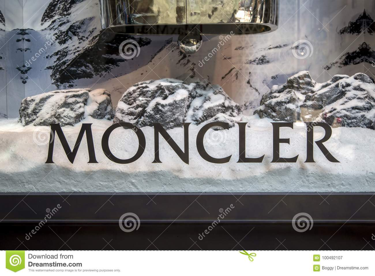 buy online f1c09 c8003 Moncler store editorial photography. Image of detail - 100492107