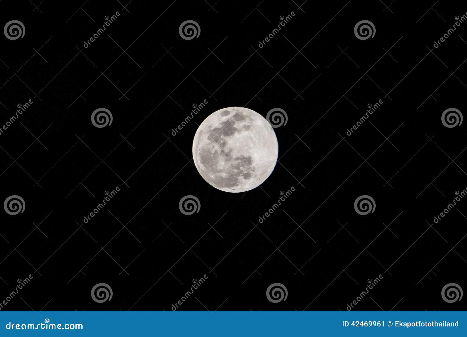 Mond in der Dunkelheit