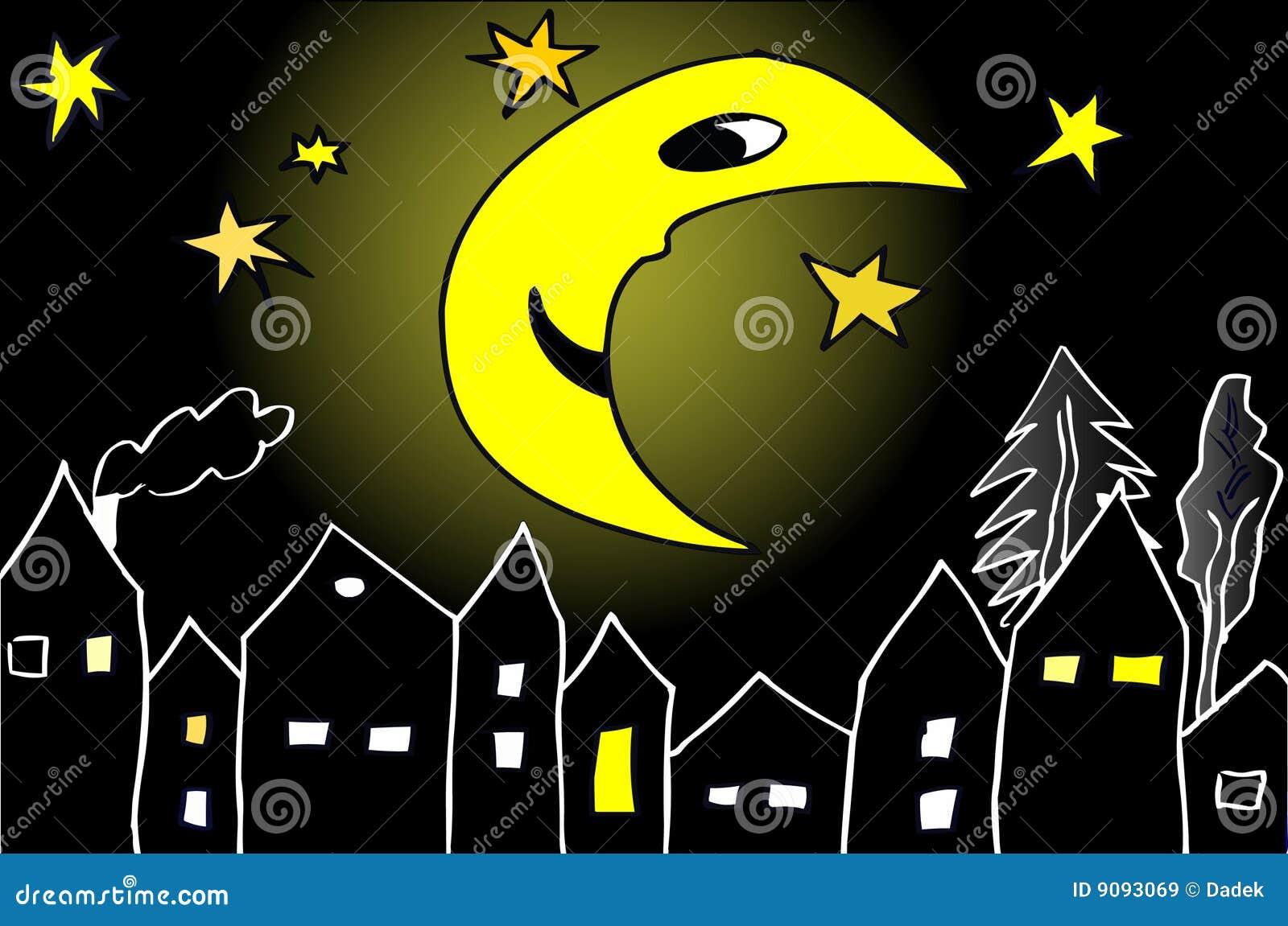 Mond um Mitternacht