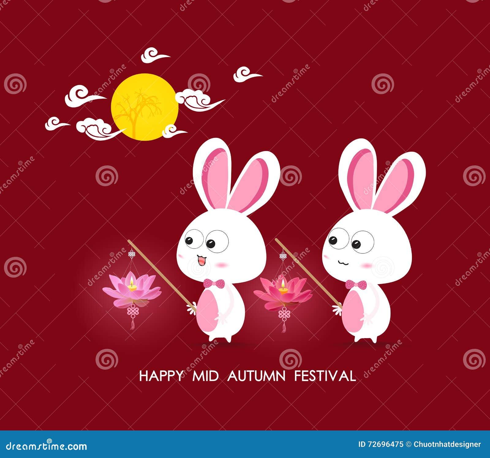 Mond Und Kaninchen, Die Lotoslaternen Von Mittlerem Autumn Festival ...