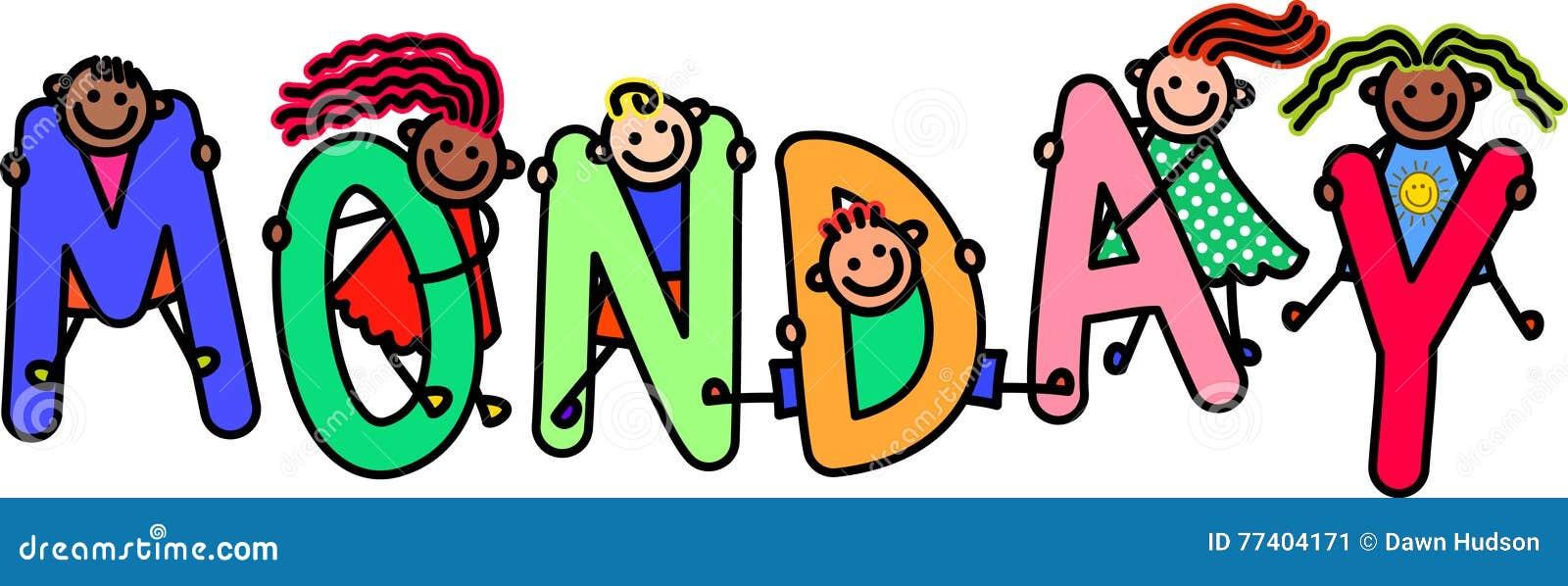 monday kids stock illustration illustration of days