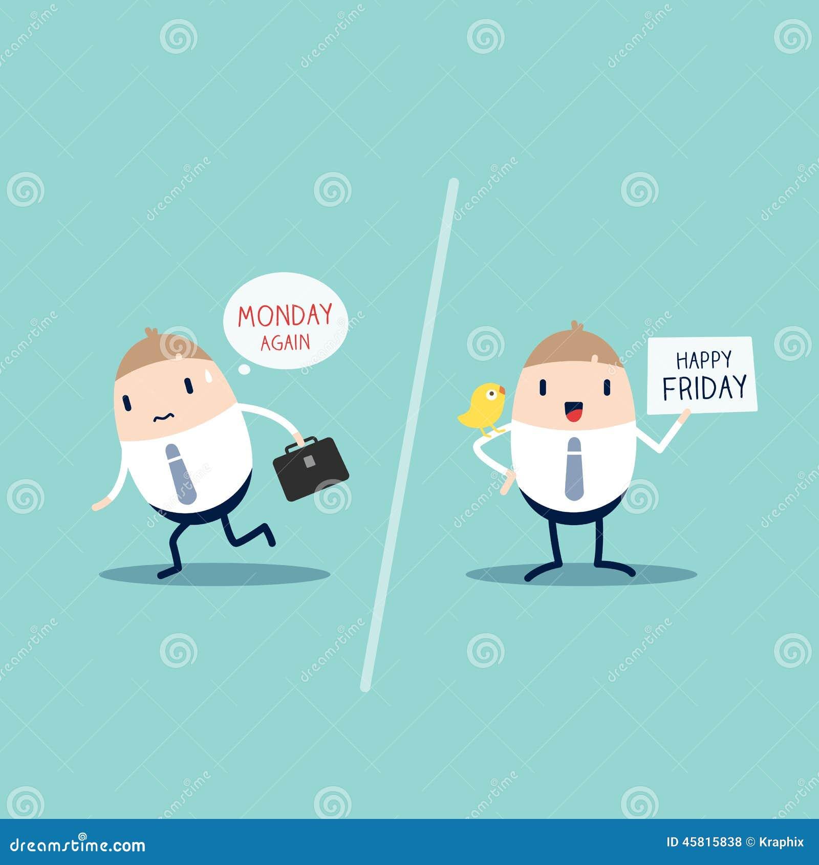 Monday Vs Friday Stock Vector Image 45815838