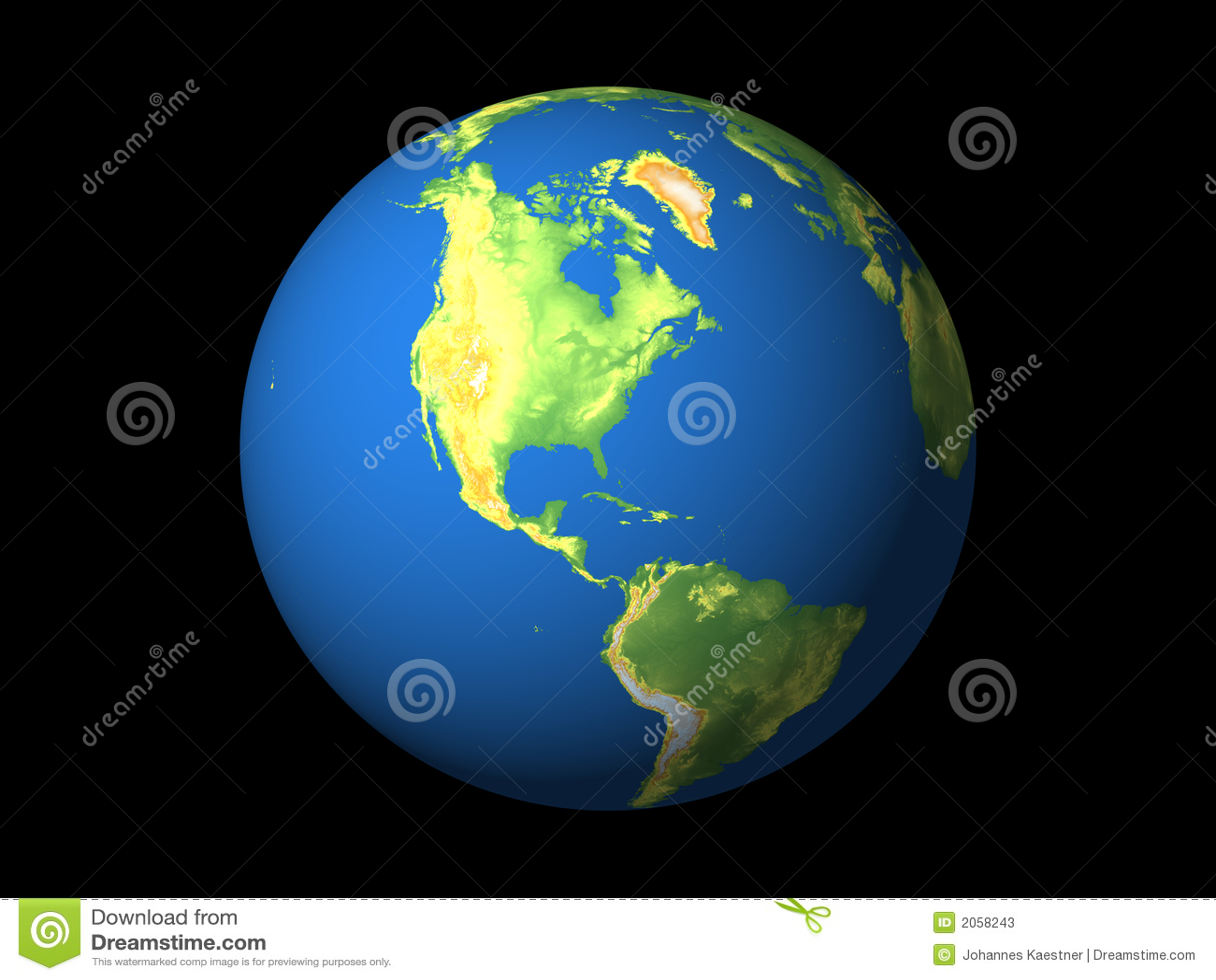 Monde, Amérique du Nord, S-Amérique, N-Atlantique